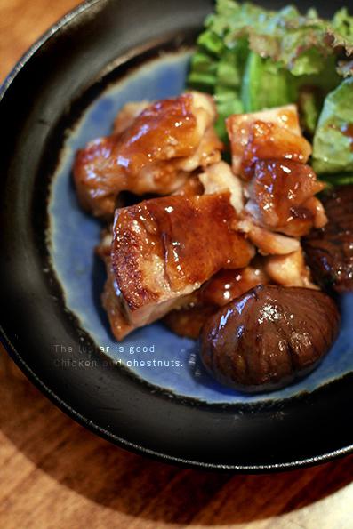 鶏肉と栗の煮物と豚の生姜焼き_e0137277_16193275.jpg