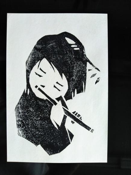 センチメンタルな 青春の記憶(完結編) 木版画_a0212807_20070945.jpg