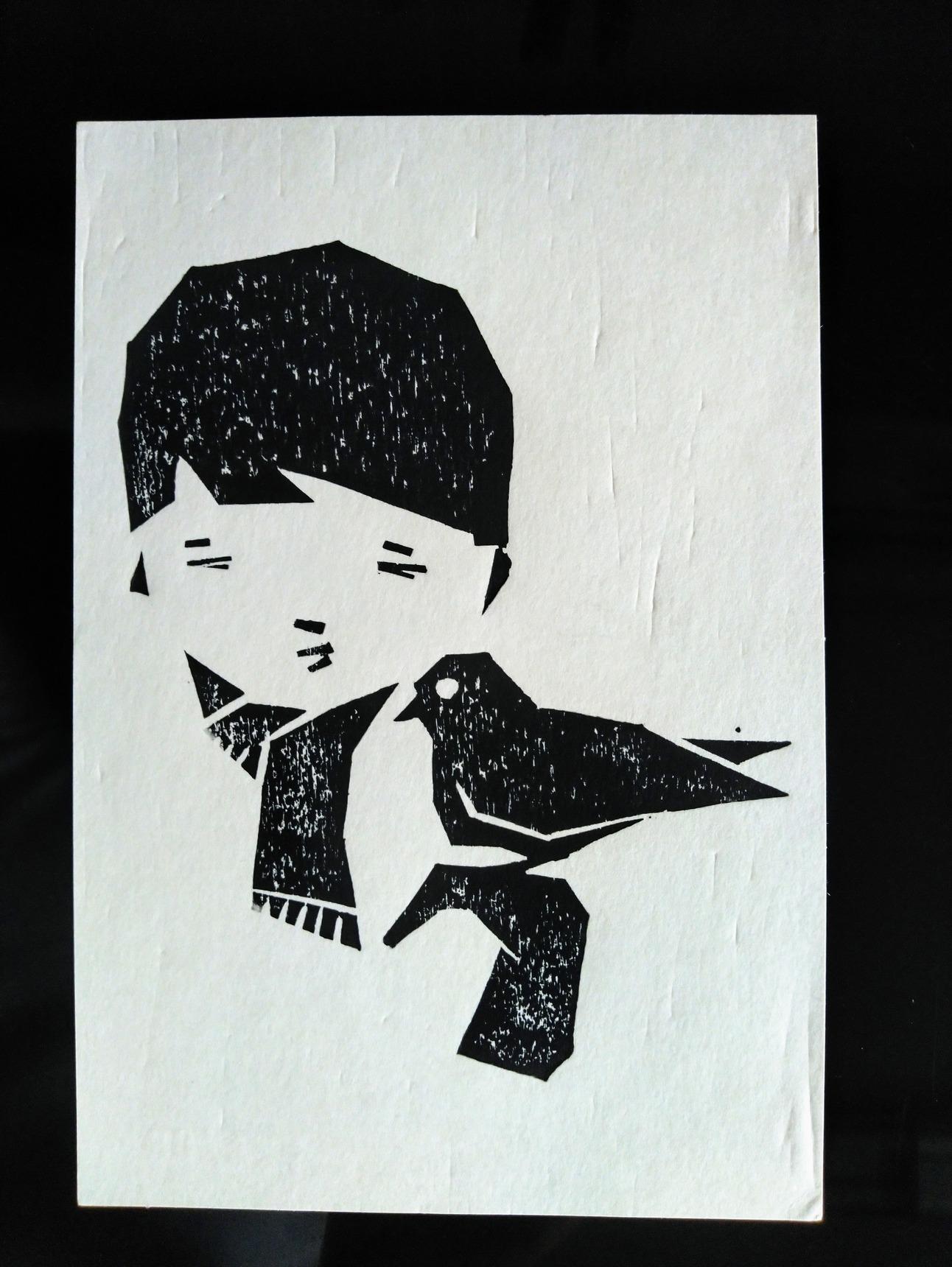センチメンタルな 青春の記憶(完結編) 木版画_a0212807_20071918.jpg