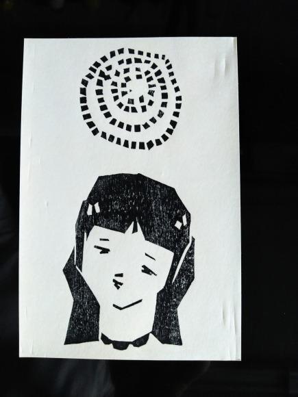 センチメンタルな 青春の記憶(完結編) 木版画_a0212807_20073354.jpg
