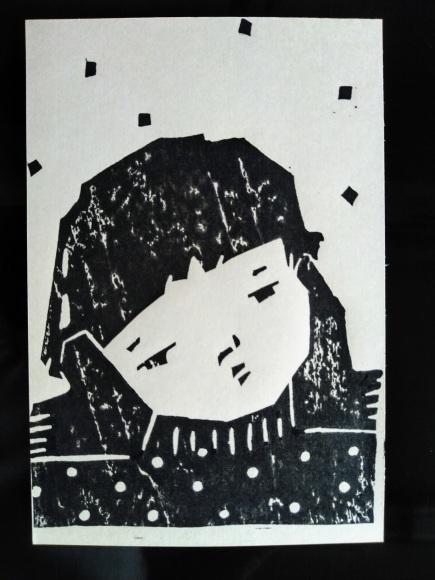 センチメンタルな 青春の記憶(完結編) 木版画_a0212807_20074997.jpg