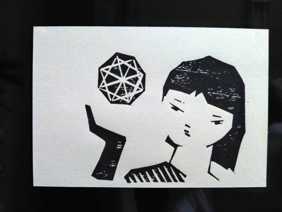 センチメンタルな 青春の記憶(完結編) 木版画_a0212807_20075367.jpg