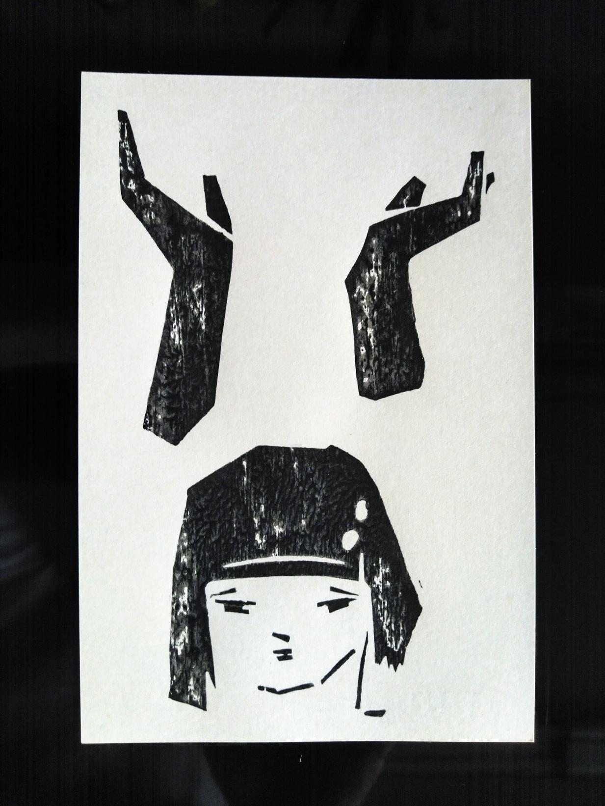 センチメンタルな 青春の記憶(完結編) 木版画_a0212807_20090691.jpg