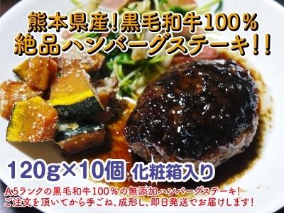 熊本県産の黒毛和牛を100%のハンバーグステーキ!全国のお客様に向け本日初出荷しました!_a0254656_18580192.jpg