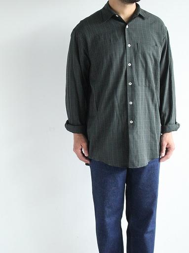 unfil washed brushed cotton regular collar shirt / gun club check_b0139281_14293452.jpg