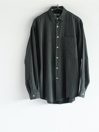 unfil washed brushed cotton regular collar shirt / gun club check_b0139281_14294739.jpg