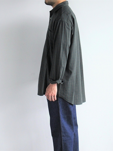 unfil washed brushed cotton regular collar shirt / gun club check_b0139281_1430273.jpg