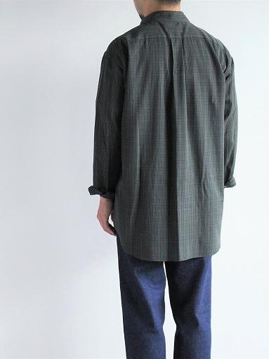 unfil washed brushed cotton regular collar shirt / gun club check_b0139281_14303584.jpg