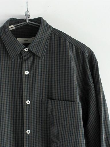 unfil washed brushed cotton regular collar shirt / gun club check_b0139281_1430952.jpg