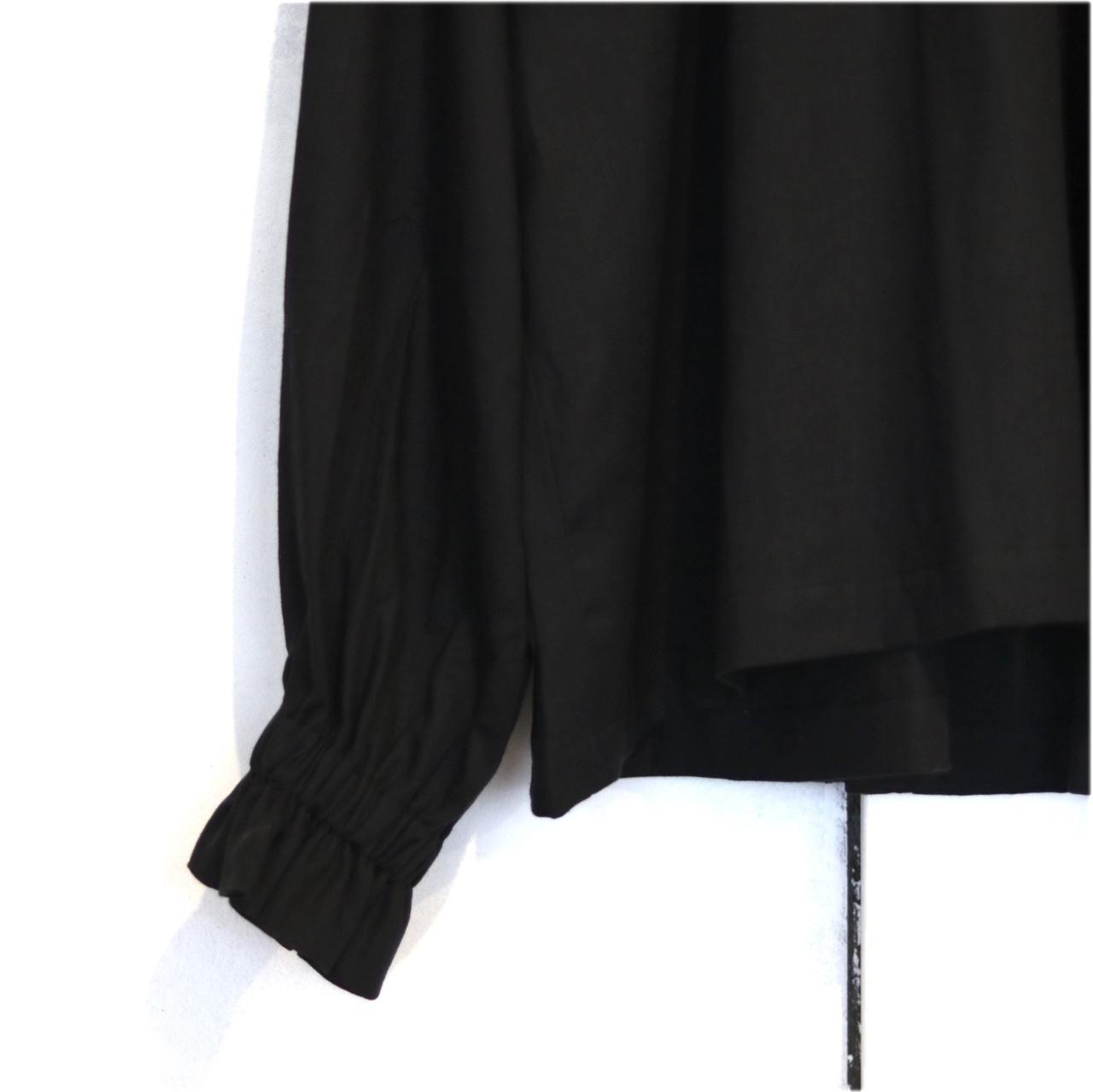 【BOHEMIANS LADYS】BLACK TWILL FRILL SHIRT_d0000298_15284089.jpg