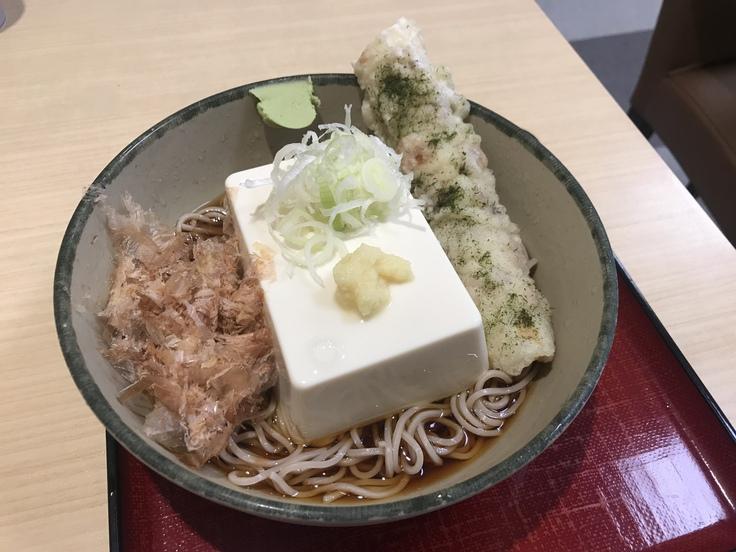 「豆腐一丁そば」でブランチ♪(箱根そば)_c0212604_10221434.jpg
