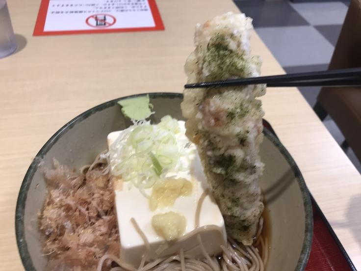 「豆腐一丁そば」でブランチ♪(箱根そば)_c0212604_10225735.jpg