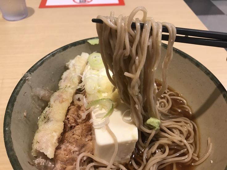 「豆腐一丁そば」でブランチ♪(箱根そば)_c0212604_1024344.jpg