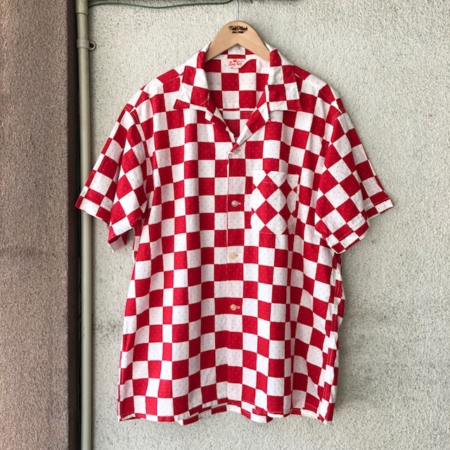 King Kole Checkerboard Open Collar Shirt_c0146178_13211430.jpg
