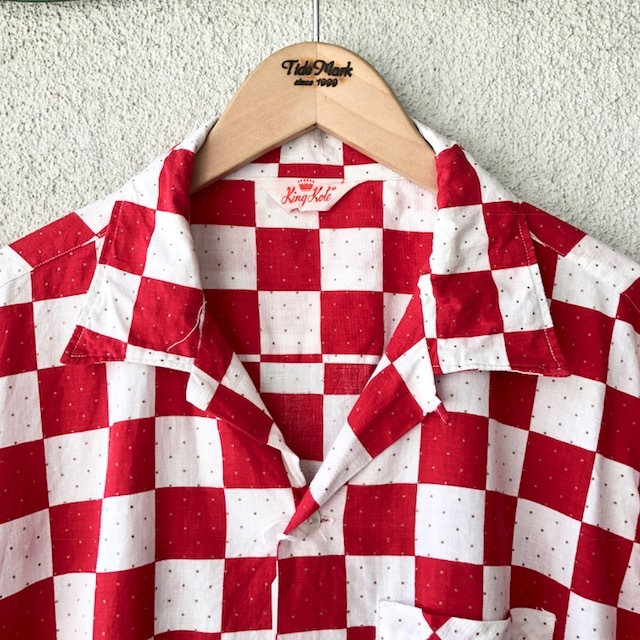 King Kole Checkerboard Open Collar Shirt_c0146178_13220418.jpg