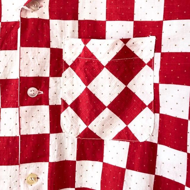 King Kole Checkerboard Open Collar Shirt_c0146178_13234539.jpg