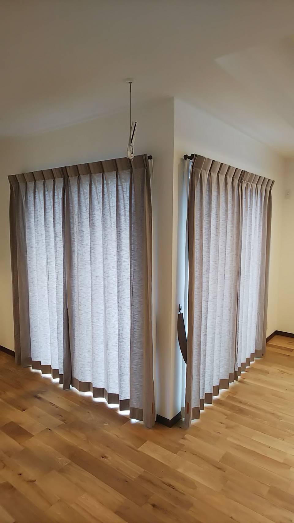 天然素材のカーテン施工させていただきました✨_f0196294_10272042.jpg