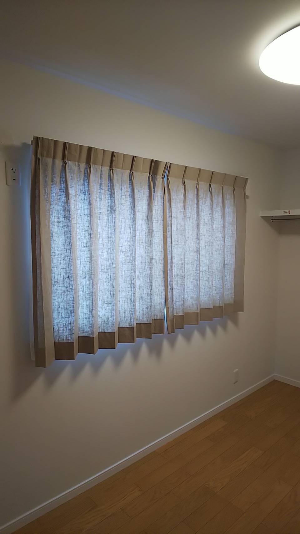 天然素材のカーテン施工させていただきました✨_f0196294_10291941.jpg