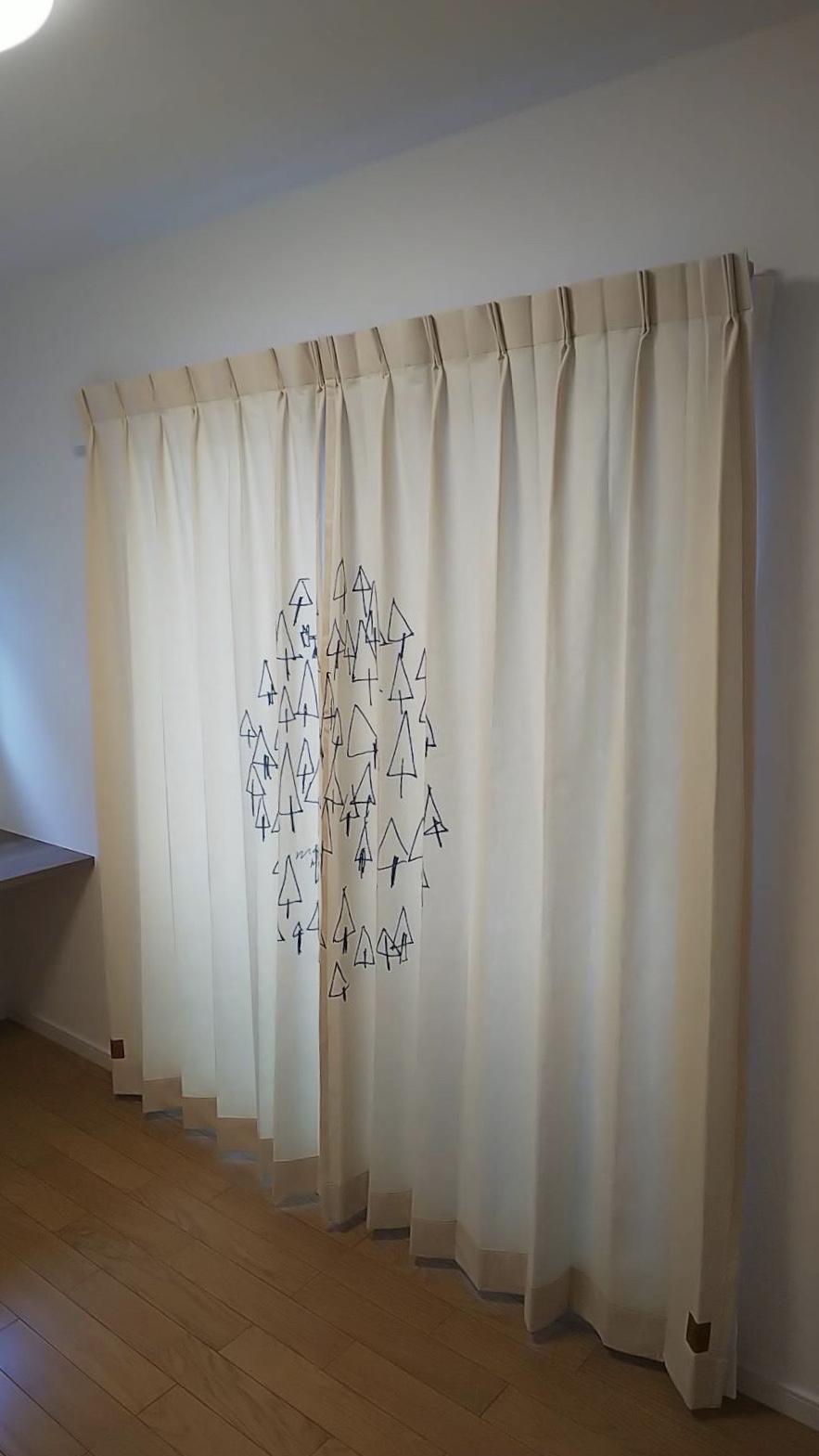 天然素材のカーテン施工させていただきました✨_f0196294_10301093.jpg
