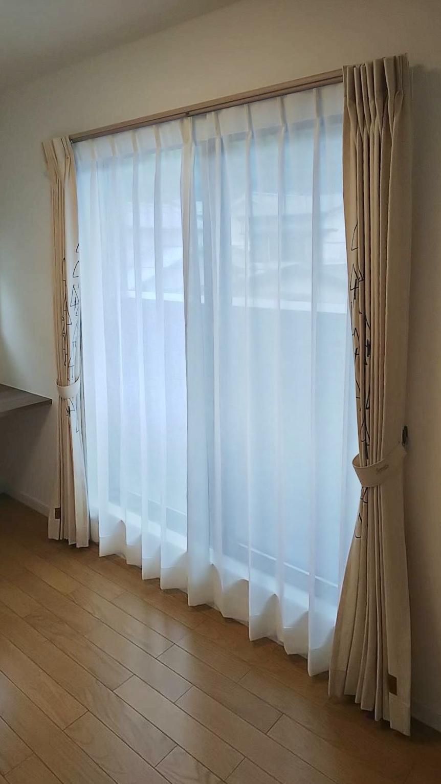 天然素材のカーテン施工させていただきました✨_f0196294_10301448.jpg