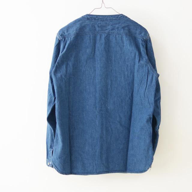 orslow [オアスロウ] M NO COLLAR SHIRTE [01-8073-95] ノーカラーシャツ・デニムジャケット・ジャケット・MEN\'S _f0051306_17273961.jpg