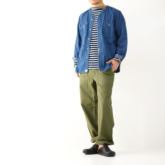orslow [オアスロウ] M NO COLLAR SHIRTE [01-8073-95] ノーカラーシャツ・デニムジャケット・ジャケット・MEN\'S _f0051306_17274042.jpg