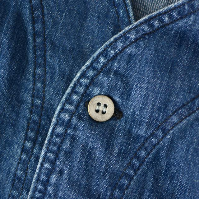 orslow [オアスロウ] M NO COLLAR SHIRTE [01-8073-95] ノーカラーシャツ・デニムジャケット・ジャケット・MEN\'S _f0051306_17274074.jpg