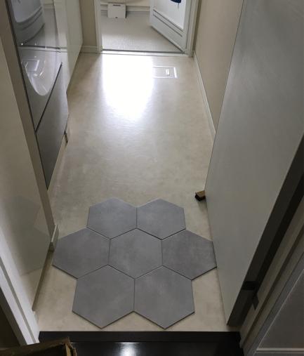 トイレと洗面のクロス貼り替え_d0387017_10114353.jpg