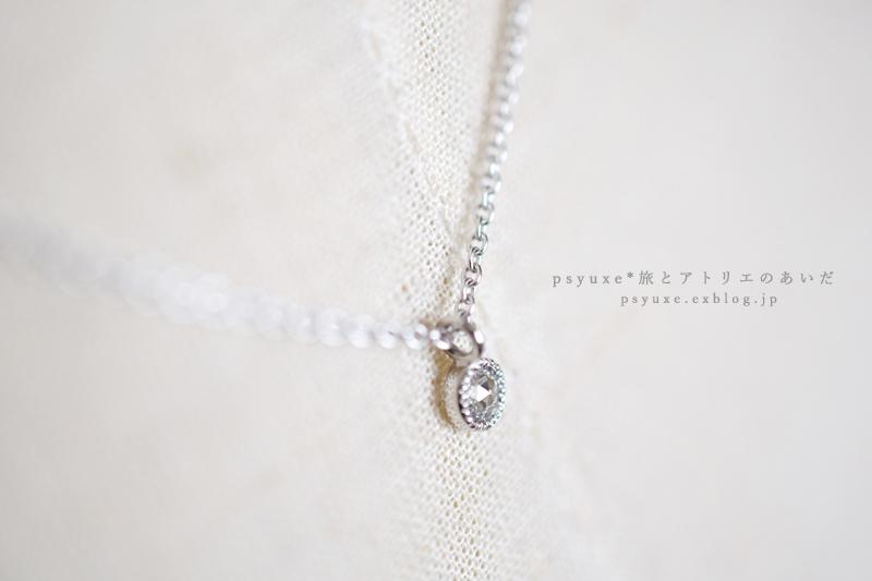 ローズカットダイヤモンドとプラチナミルグレインのアンティーク調ネックレス*1点物_e0131432_15203018.jpg