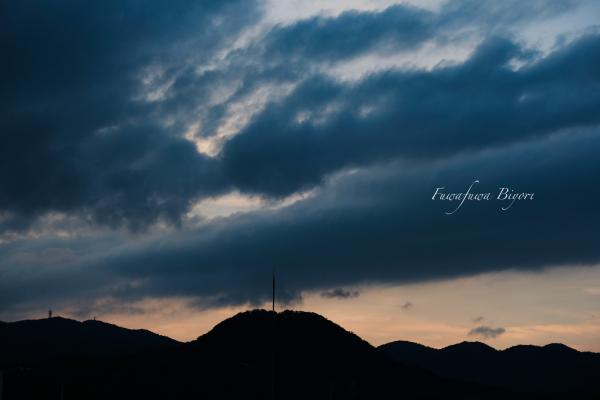 今日の夕景 **_d0344864_19590625.jpg