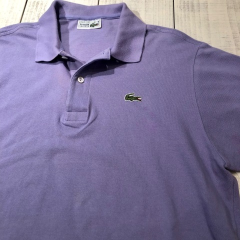 """1970-80s \"""" LACOSTE - MADE IN FRANCE - \"""" 100% cotton PIQUE Vintage S/S POLO SHIRTS ※ ラベンダー( 薄紫 )_d0172088_17290701.jpg"""