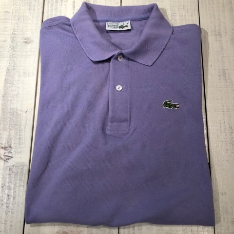 """1970-80s \"""" LACOSTE - MADE IN FRANCE - \"""" 100% cotton PIQUE Vintage S/S POLO SHIRTS ※ ラベンダー( 薄紫 )_d0172088_18354737.jpg"""