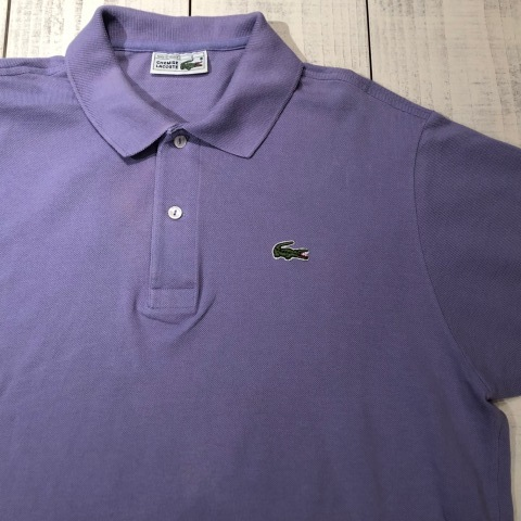 """1970-80s \"""" LACOSTE - MADE IN FRANCE - \"""" 100% cotton PIQUE Vintage S/S POLO SHIRTS ※ ラベンダー( 薄紫 )_d0172088_19463922.jpg"""