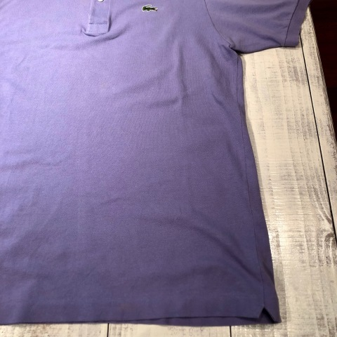 """1970-80s \"""" LACOSTE - MADE IN FRANCE - \"""" 100% cotton PIQUE Vintage S/S POLO SHIRTS ※ ラベンダー( 薄紫 )_d0172088_19503546.jpg"""