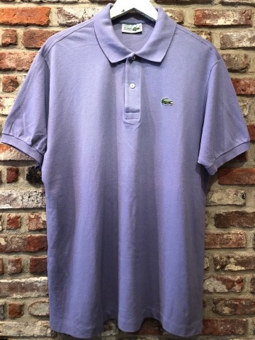 """1970-80s \"""" LACOSTE - MADE IN FRANCE - \"""" 100% cotton PIQUE Vintage S/S POLO SHIRTS ※ ラベンダー( 薄紫 )_d0172088_19530316.jpg"""