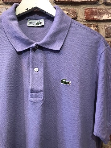 """1970-80s \"""" LACOSTE - MADE IN FRANCE - \"""" 100% cotton PIQUE Vintage S/S POLO SHIRTS ※ ラベンダー( 薄紫 )_d0172088_19534292.jpg"""
