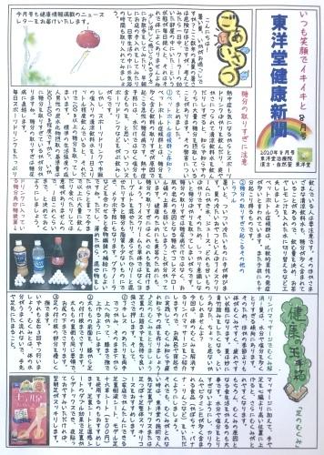 東洋堂新聞8月号本日より配布中です。_d0142498_10370311.jpeg