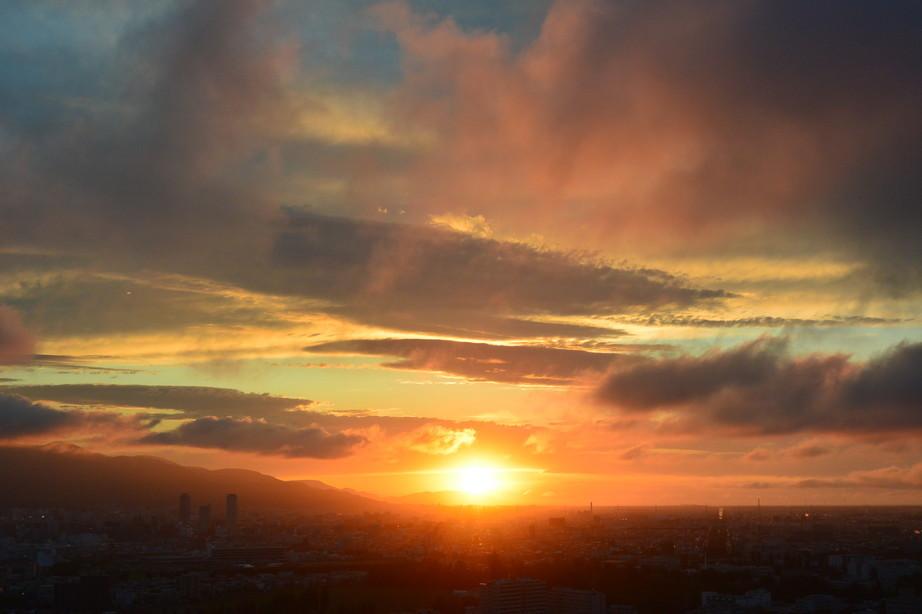 """2020年6月 『6月の夕日、夕焼け』 June 2020 \""""The Sunset & The Evening Glow in June\""""_c0219616_14345032.jpg"""