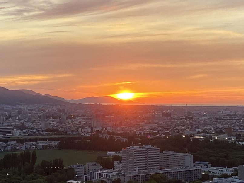 """2020年6月 『6月の夕日、夕焼け』 June 2020 \""""The Sunset & The Evening Glow in June\""""_c0219616_14360610.jpg"""