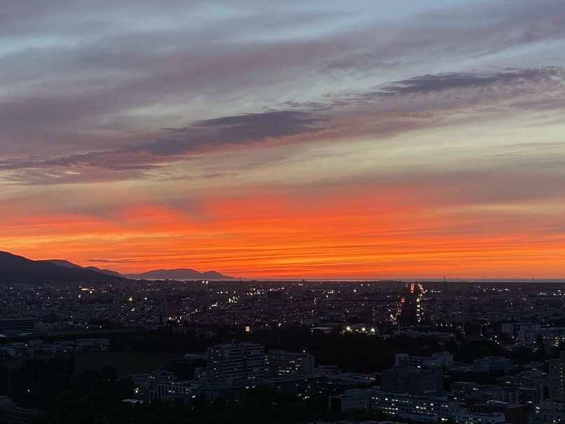 """2020年6月 『6月の夕日、夕焼け』 June 2020 \""""The Sunset & The Evening Glow in June\""""_c0219616_14360686.jpg"""