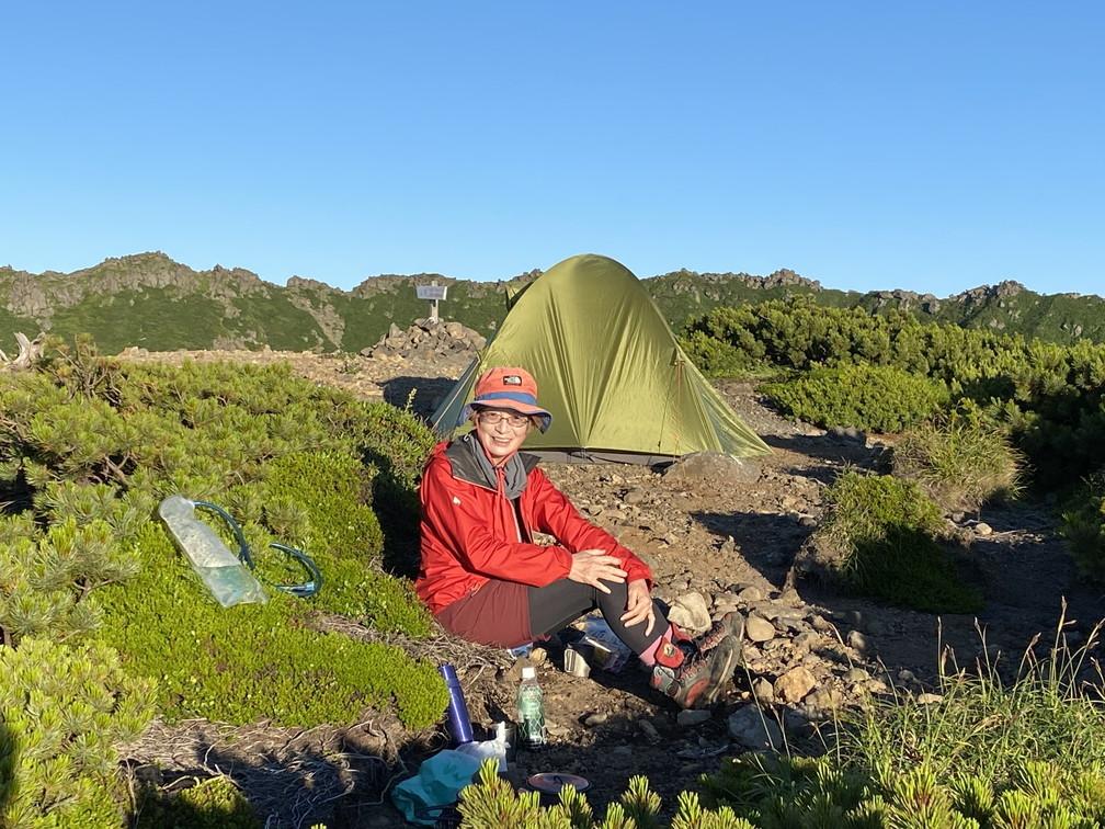 """2020年7月 『羊蹄山、山頂ビバーク』 July 2020 \""""Bivouac on the Summit Mt Yotei\""""_c0219616_16565407.jpg"""
