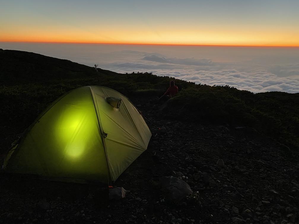 """2020年7月 『羊蹄山、山頂ビバーク』 July 2020 \""""Bivouac on the Summit Mt Yotei\""""_c0219616_16565456.jpg"""