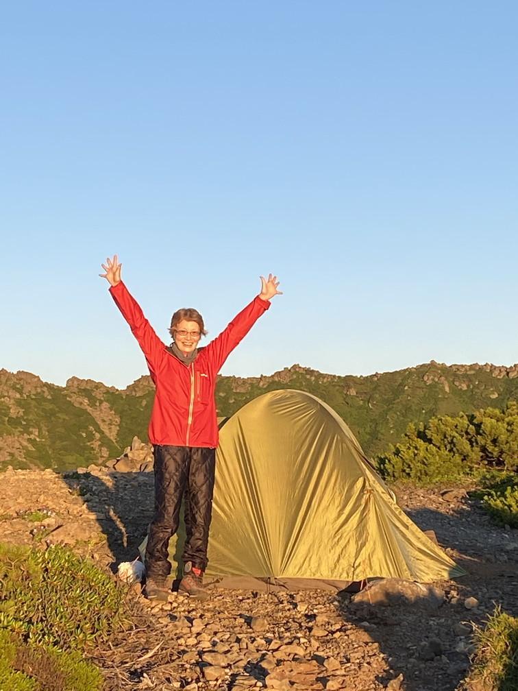 """2020年7月 『羊蹄山、山頂ビバーク』 July 2020 \""""Bivouac on the Summit Mt Yotei\""""_c0219616_16565479.jpg"""
