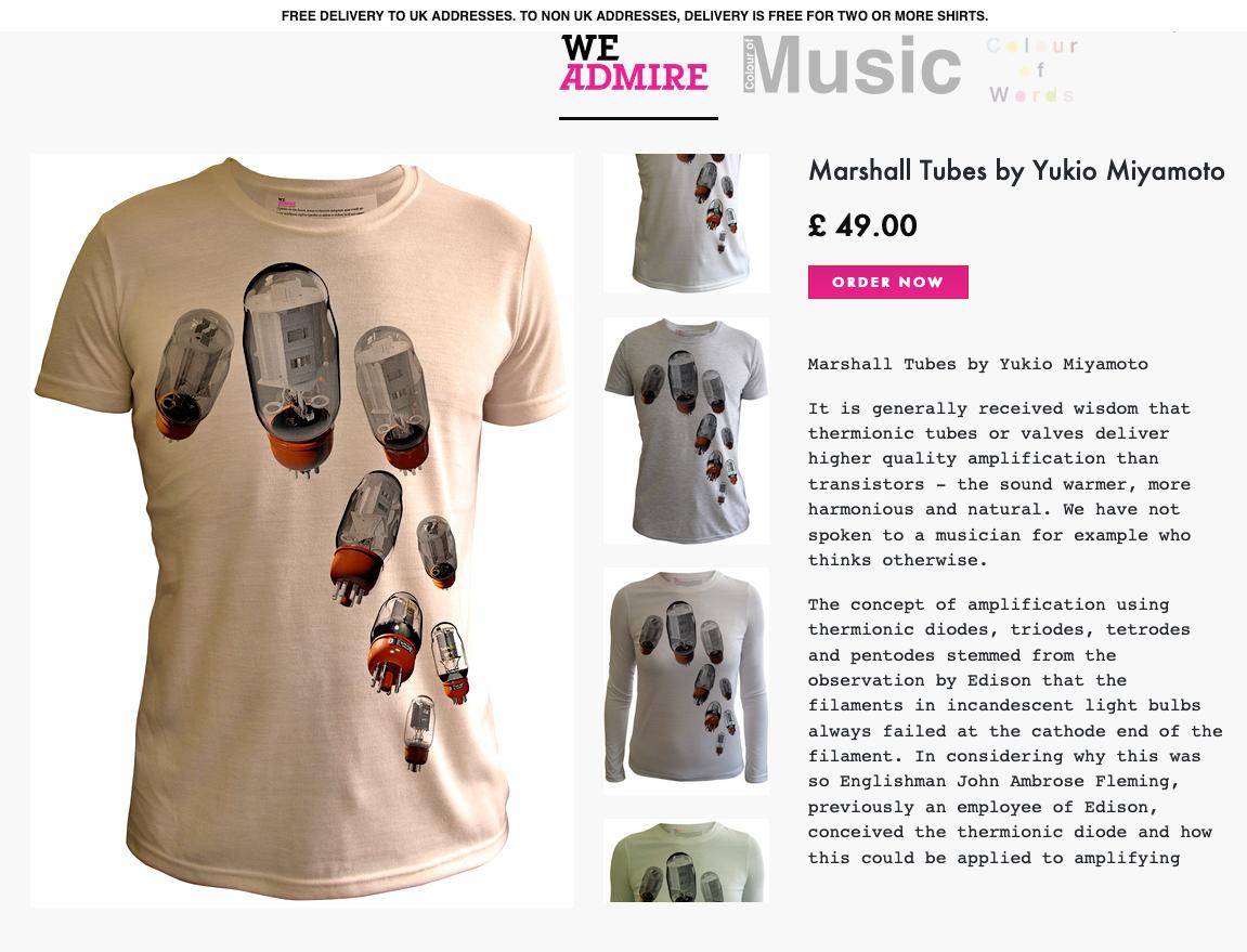 WeAdmire Marshall Tubes by Yukio Miyamoto_c0068424_18305717.jpg