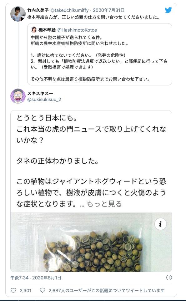 【中国からの謎の種子】その名は「ジャイアント・ホグウィード(バイカルハナウド)」。極めて危険な植物の種だった!_a0386130_18054784.png