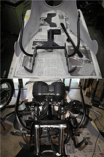 BMW R100RS   フロントカウルの変更⇒イモラtypeへ_e0218639_10224715.jpg