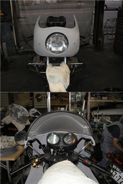 BMW R100RS   フロントカウルの変更⇒イモラtypeへ_e0218639_10231721.jpg