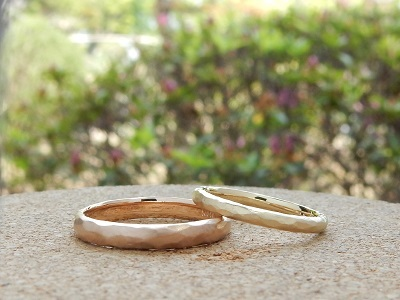 鎚目模様の結婚指輪 | 岡山_d0237570_15452153.jpg