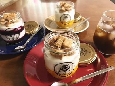 メルシーベイク風マンゴーとブルーベリーのレアチーズケーキ_f0231189_17270269.jpg