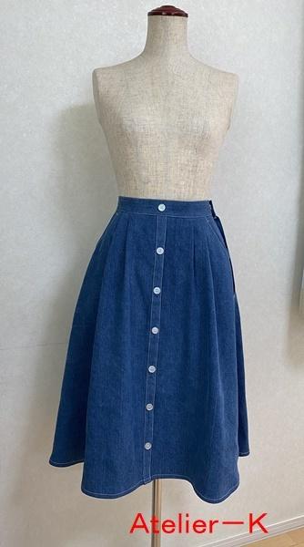 市販のスカートをコピーしました。_c0319009_14261942.jpg